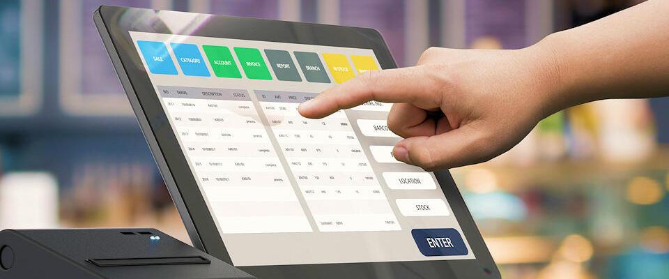 Nous vous fournissons et installons un large panel de caisses tactiles pouvant communiquer entre elles dans le magasin.